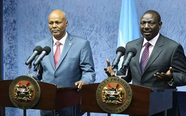 PM Abdiweli Sheikh Ahmed and Kenya Deputy President William Ruto