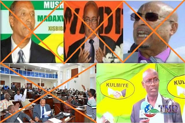riyoraac baarlamaan xisbiyada somaliland