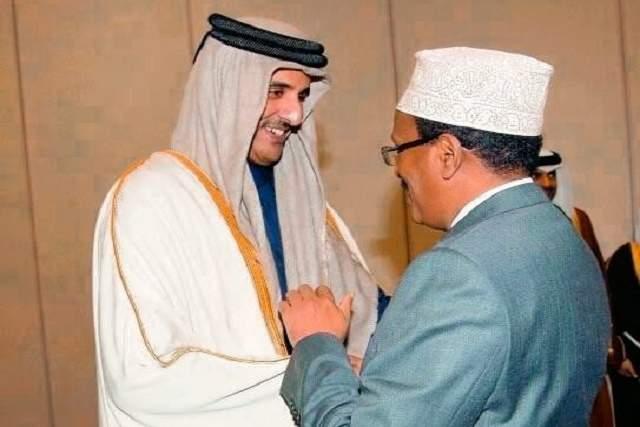 farmaajo iyo Sheikh Tamim bin Hamad al Thani